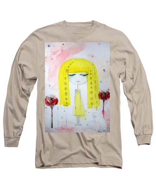 Yellow Hair Girl  Long Sleeve T-Shirt