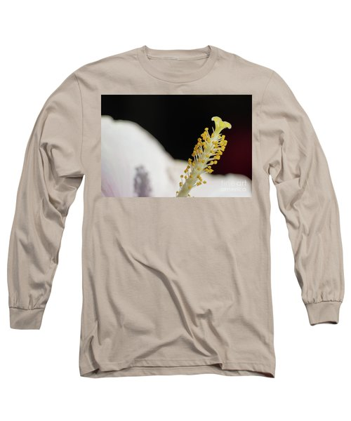 Yellow Hibiscus Stalk Long Sleeve T-Shirt