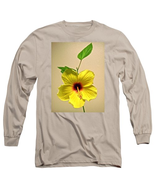 Yellow Hibiscus Long Sleeve T-Shirt by Stephanie Moore