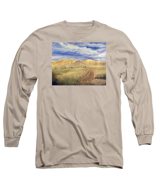 Yellow Hills Of Jensen Long Sleeve T-Shirt by Sherril Porter