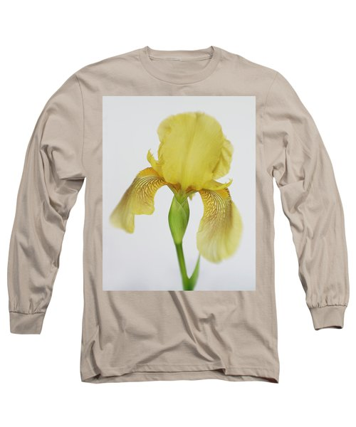 Long Sleeve T-Shirt featuring the photograph Yellow Iris A Symbol Of Passion by David and Carol Kelly