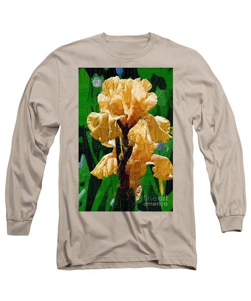Yellow Iris Long Sleeve T-Shirt by Diane E Berry