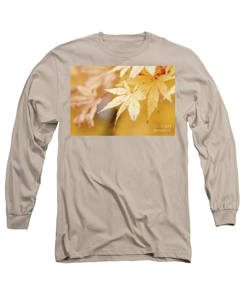 Yellow Leaf With Red Veins Long Sleeve T-Shirt