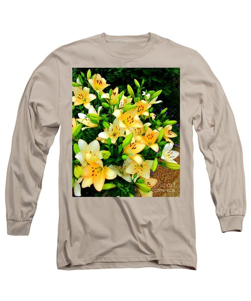 Long Sleeve T-Shirt featuring the photograph Yellow Lilies 2 by Randall Weidner