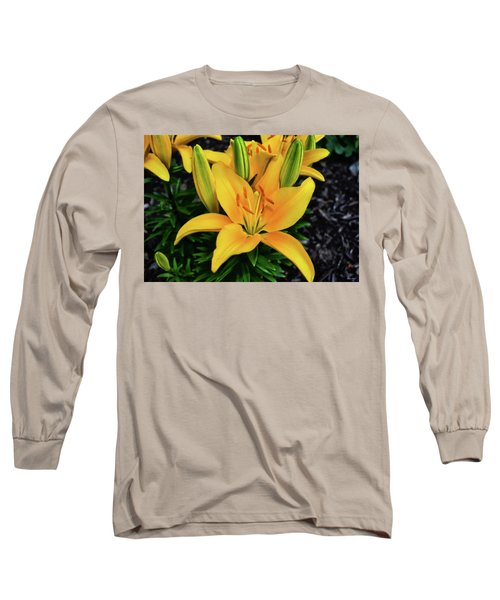 Long Sleeve T-Shirt featuring the photograph Yellow Lily 008 by George Bostian