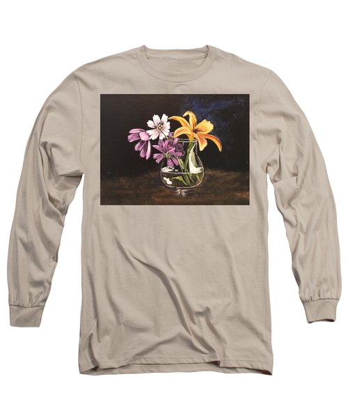 Yellow Lily Long Sleeve T-Shirt by Sharon Schultz