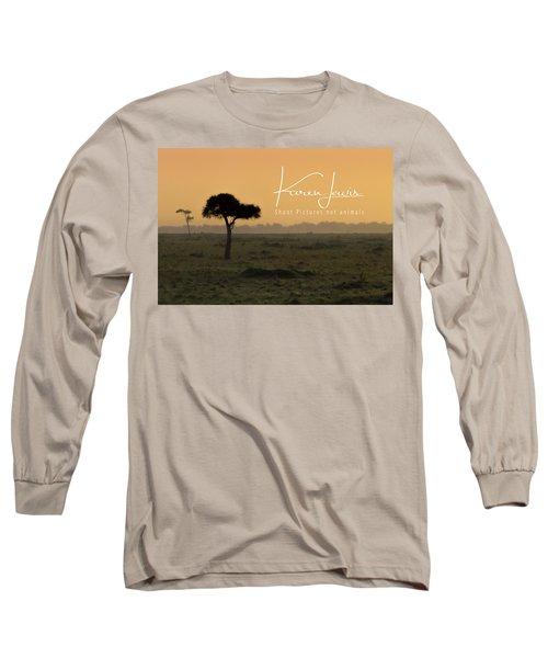 Long Sleeve T-Shirt featuring the photograph Yellow Mara Dawn by Karen Lewis