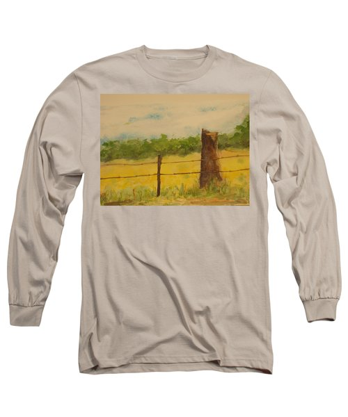 Long Sleeve T-Shirt featuring the painting Yellow Meadow  by Vicki  Housel