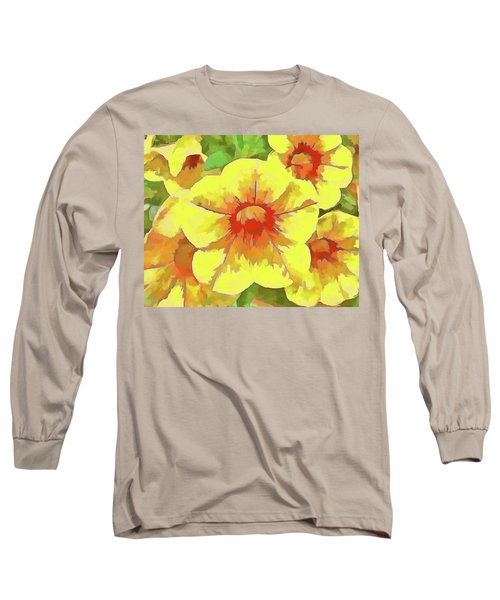 Yellow Million Bells Long Sleeve T-Shirt