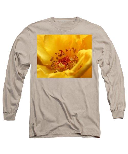 Yellow Mini Macro Long Sleeve T-Shirt