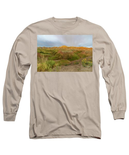 Yellow Mounds Morning Long Sleeve T-Shirt