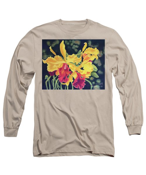 Yellow Orchids Long Sleeve T-Shirt