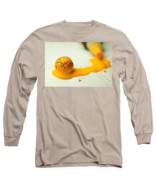 Yellow Painted Ball Long Sleeve T-Shirt