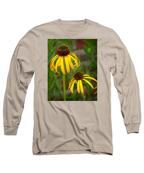 Long Sleeve T-Shirt featuring the photograph Yellow Pair by David Coblitz