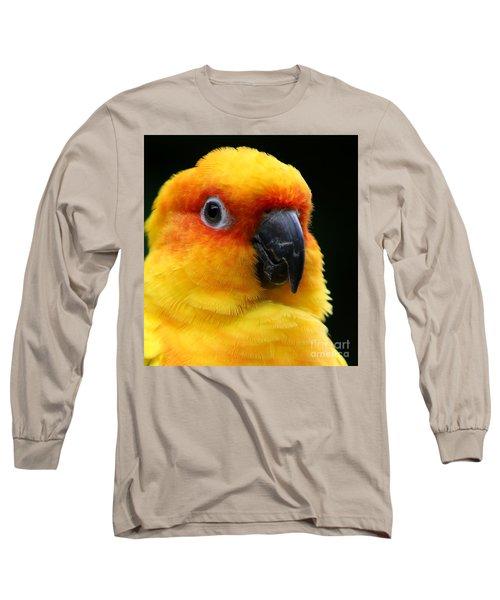 Yellow Parrot Closeup Long Sleeve T-Shirt