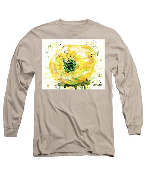 Yellow Pepper Long Sleeve T-Shirt by Arleana Holtzmann