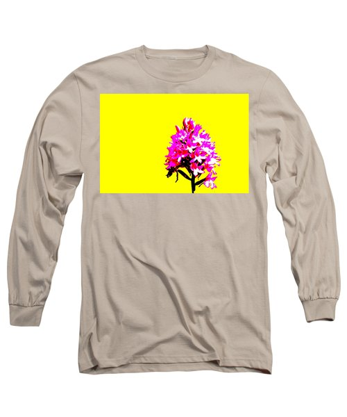 Yellow Pyramid Orchid Long Sleeve T-Shirt