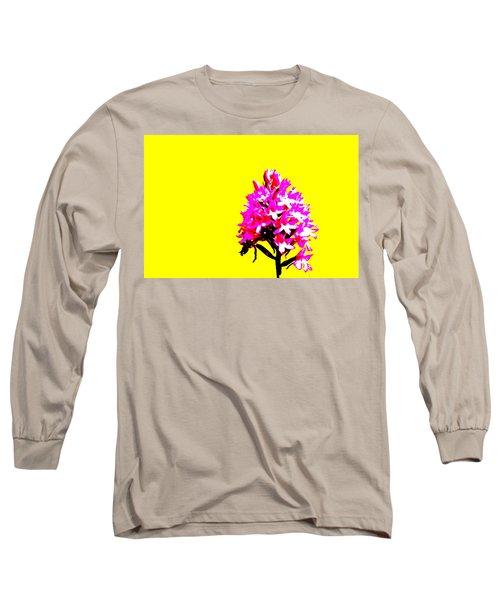 Yellow Pyramid Orchid Long Sleeve T-Shirt by Richard Patmore