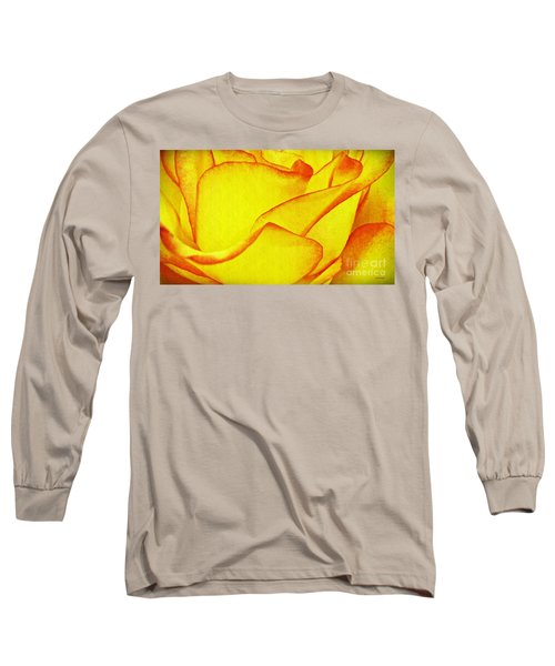 Yellow Rose Abstract Long Sleeve T-Shirt