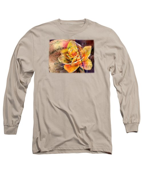 Yellow Rose Of Texas Long Sleeve T-Shirt by Hailey E Herrera