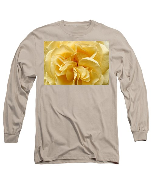 Yellow Ruffles - Rose Long Sleeve T-Shirt