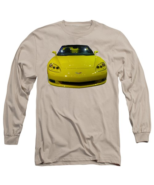 Yellow Sports Car Front Long Sleeve T-Shirt