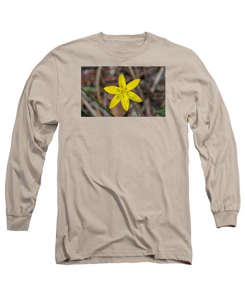 Yellow Star Grass Flower Long Sleeve T-Shirt by Kenneth Albin