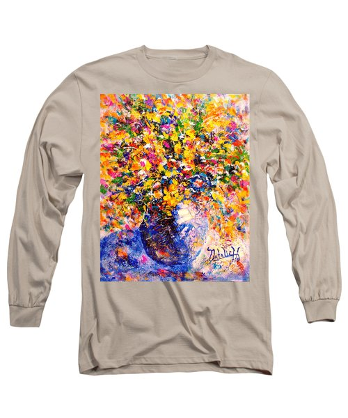 Yellow Sunshine Long Sleeve T-Shirt by Natalie Holland