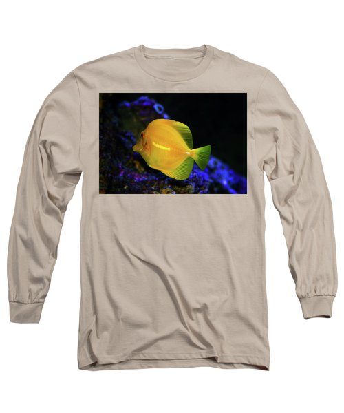 Long Sleeve T-Shirt featuring the photograph Yellow Tang by Anthony Jones