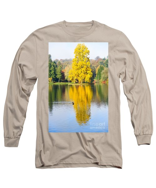 Yellow Tree Reflection Long Sleeve T-Shirt