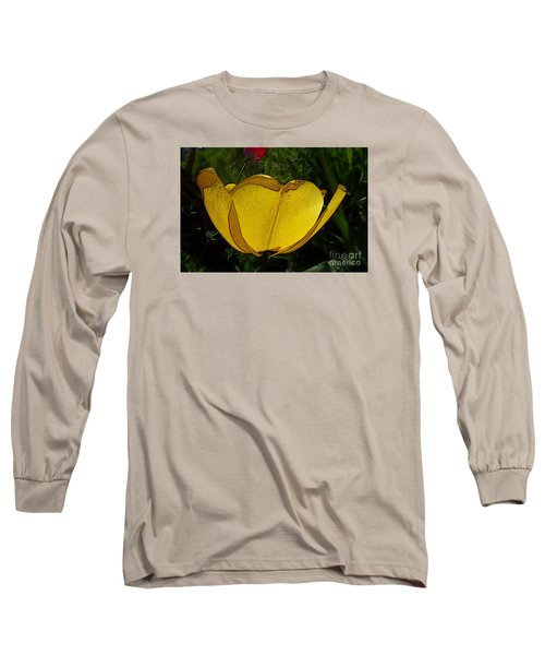 Yellow Tulip 2 Long Sleeve T-Shirt by Jean Bernard Roussilhe