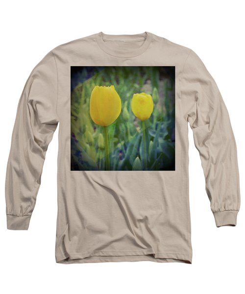 Yellow Tulip Art Long Sleeve T-Shirt