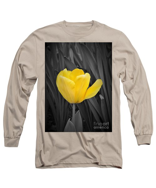 Yellow Tulip Long Sleeve T-Shirt