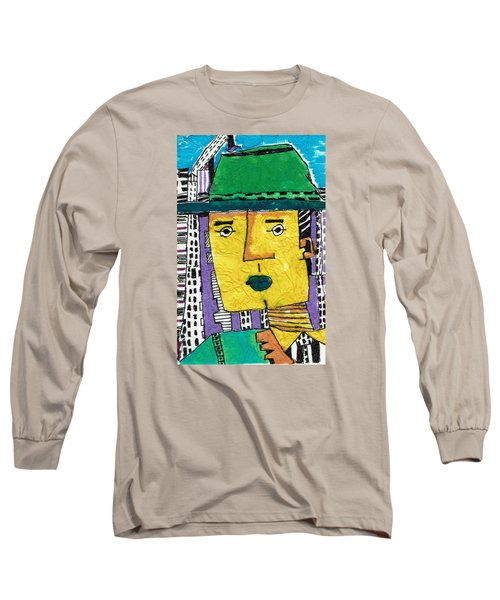 Long Sleeve T-Shirt featuring the tapestry - textile Yellowman by Don Koester