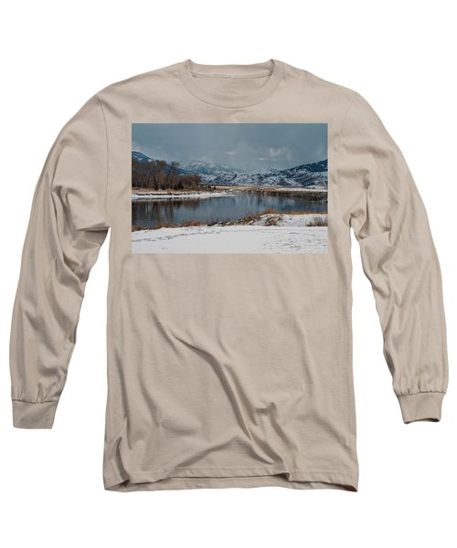 Yellowstone River In Light Snow Long Sleeve T-Shirt