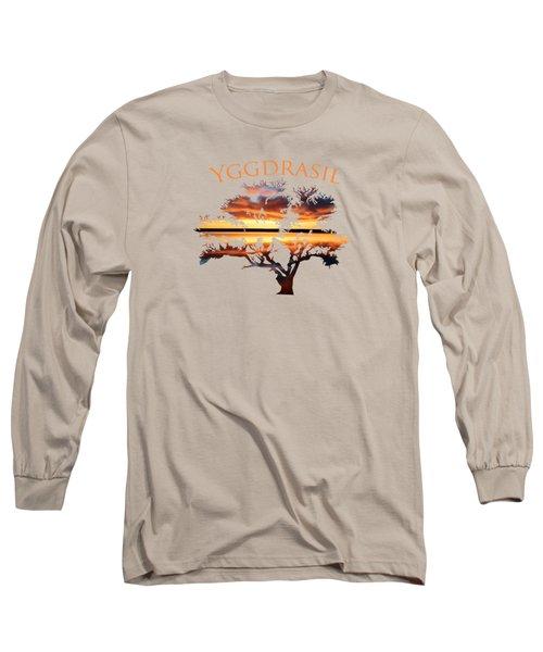 Yggdrasil- The World Tree 2 Long Sleeve T-Shirt