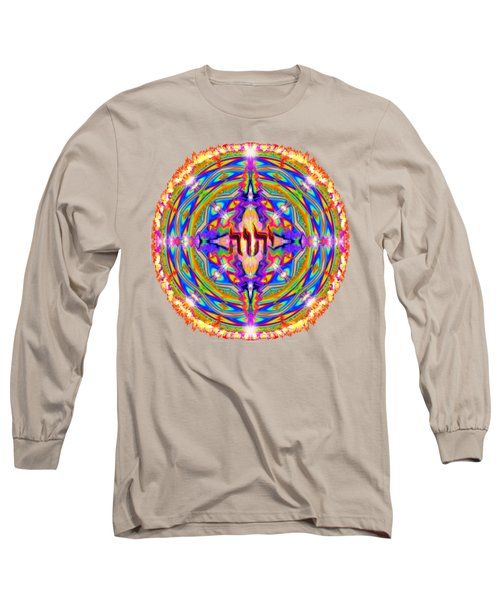 Yhwh Mandala 3 18 17 Long Sleeve T-Shirt by Hidden Mountain