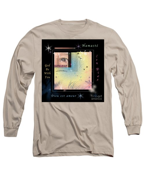 Yoga Creativity And Awareness Long Sleeve T-Shirt by Felipe Adan Lerma