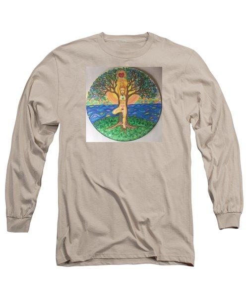 Yoga Tree Pose Long Sleeve T-Shirt