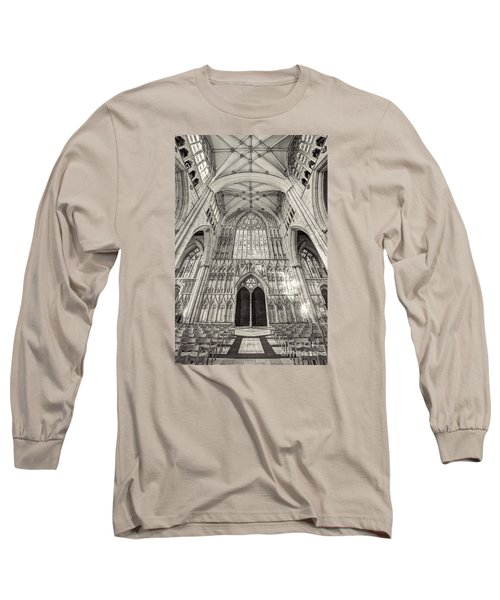 Long Sleeve T-Shirt featuring the photograph York Minster Uk by Jack Torcello