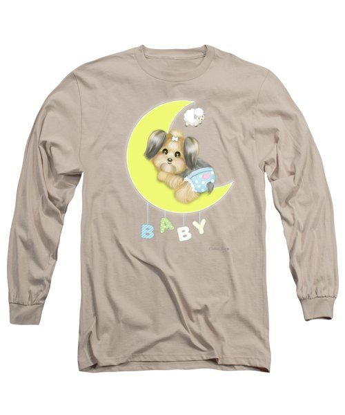 Yorkie Fofa Baby Long Sleeve T-Shirt