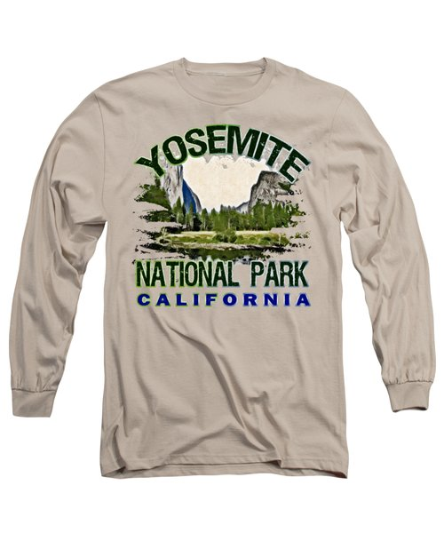 Yosemite National Park Long Sleeve T-Shirt by David G Paul