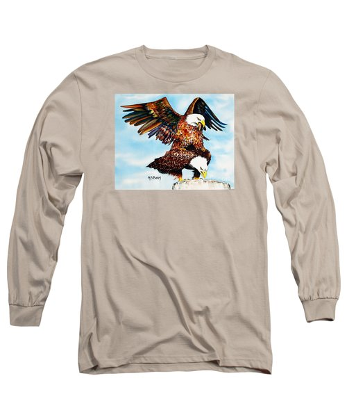 You Ruffle My Feathers Long Sleeve T-Shirt by Maria Barry