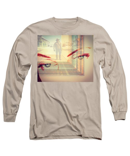 Your Eyes Only Long Sleeve T-Shirt by Theresa Marie Johnson