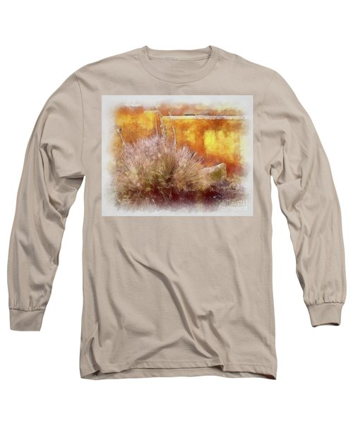 Yucca And Adobe In Aquarelle Long Sleeve T-Shirt