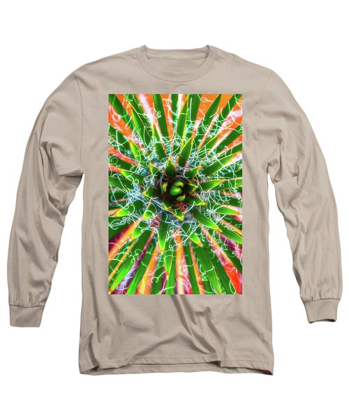 Long Sleeve T-Shirt featuring the photograph Yucca Sunrise by Darren White