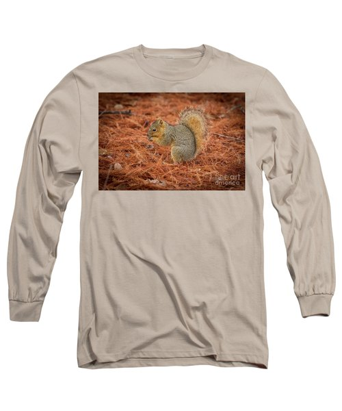 Yum Yum Nuts Wildlife Photography By Kaylyn Franks     Long Sleeve T-Shirt