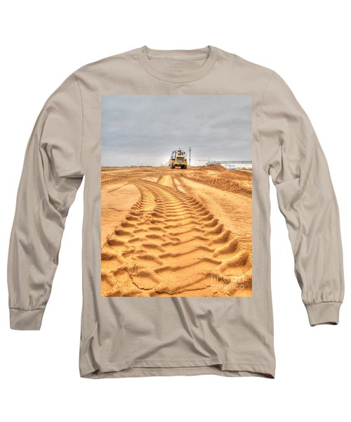 Yury Bashkin The Road On The Construction Long Sleeve T-Shirt by Yury Bashkin