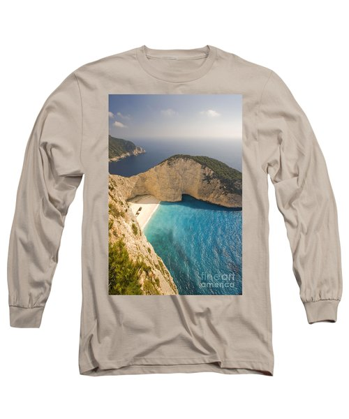 Long Sleeve T-Shirt featuring the photograph Zakynthos Beach by Juergen Held