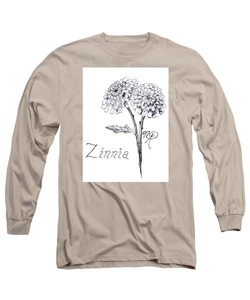 Zannie Zinnia Long Sleeve T-Shirt